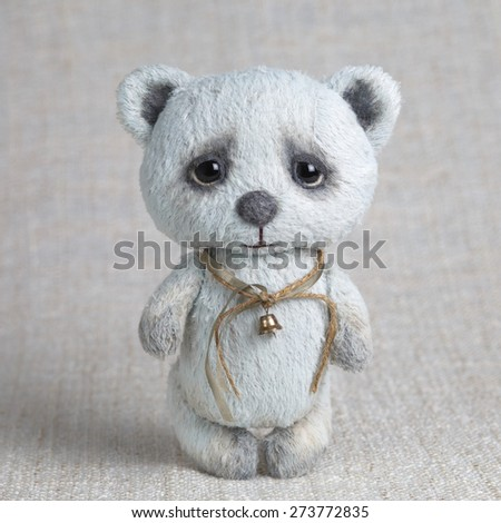 Blue artist Teddy bear with bell