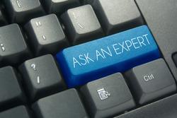 blue ask an expert keyboard button