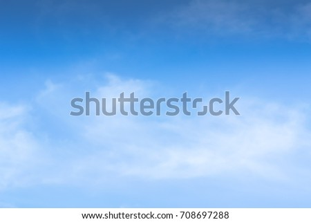 Blue backdrop in the air for text