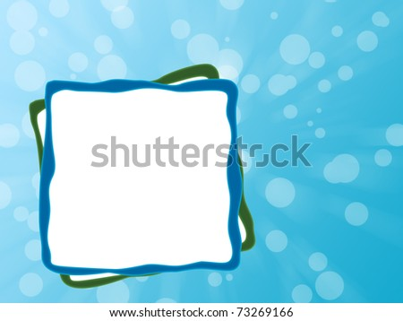 blue background designer white board