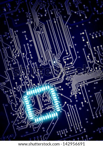 blue  background of digital...
