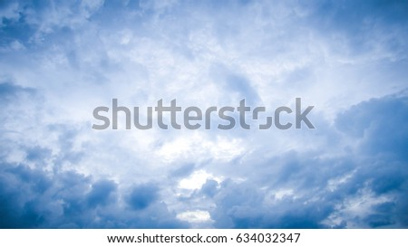 Blue background with clouds, very bright, beautiful, is the most beautiful sky. Can be used as a background. - Shutterstock ID 634032347