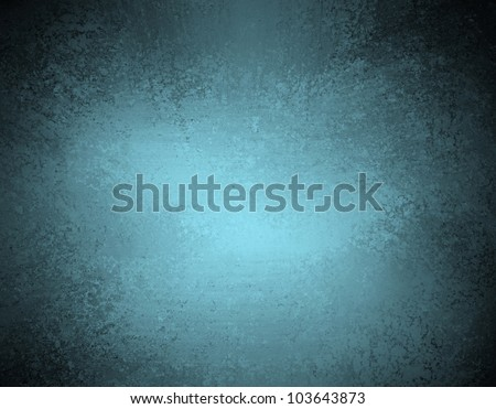 blue background with distressed vintage grunge texture and dark black edges on elegant wallpaper illustration