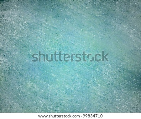 blue background with distressed white vintage grunge texture and darker black edges on old elegant wallpaper illustration