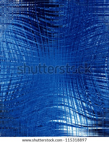 Blue background with some soft shades and highlights - stock photo