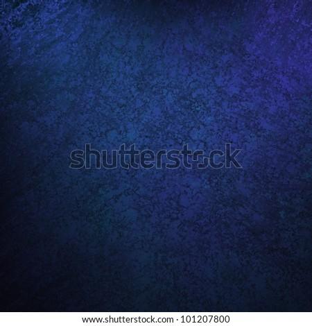 blue background with vintage grunge background texture, black vignette border edge on blue wallpaper design for web template background or abstract blue paper brochure layout color in dark royal blue