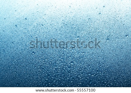 blue backround with water drops