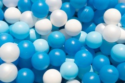 blue balls for kids in pool