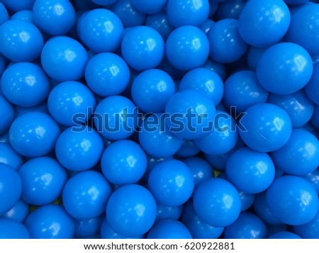 Blue balls in balls pool at the playground.