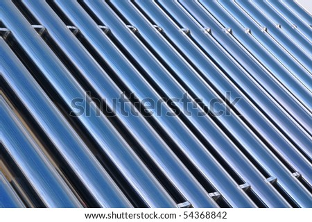 blue bars of a solar heating system
