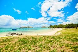 Blue Bay Marine Park , coastline of mauritius island