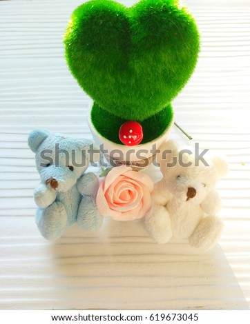 Good Morning Card With Teddy Bear And Rose Free Images And Photos