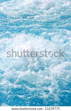 Blue beautiful water in the swimming pool.