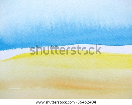 Blue Beige and Yellow Watercolor 3
