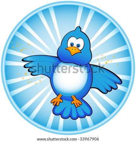 Blue bird - stock photo