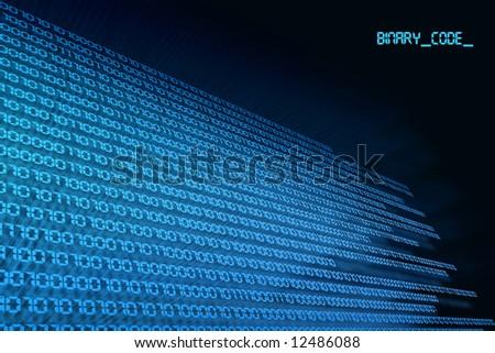 blue black background binary code, zero & one