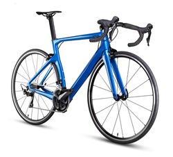 blue black modern aerodynmic carbon fiber racing sport road bike bicycle racer isolated on white background