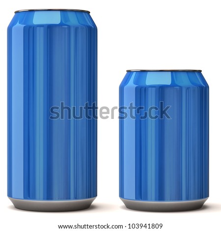 blank blue soda can - photo #21