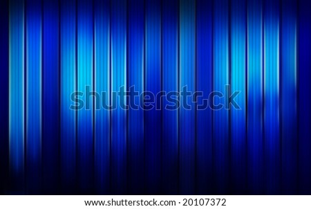 Blue blocks of shiny glowing glass - stock photo