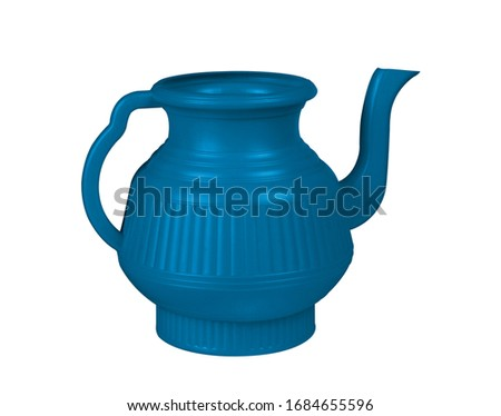 Blue, Blue lota, lota, vessel, bodna, watering pot, garden water pot, Watering can, Watering can isolated, Watering flowers with a water can in garden, water can, plastic water, 3D rendering,