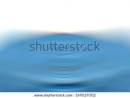 Blue Blur Water Ripple Background. Ideal for a business card design.