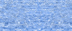 Blue blurred background old Stonewall. Abstract blue watercolor Background Stone. Texture Navy Blue Wall Background