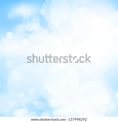 Blue bokeh abstract background