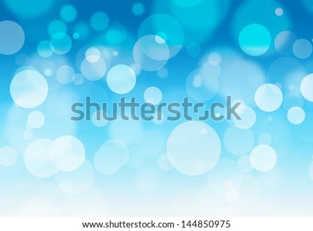 Stock Photo blue bokeh background