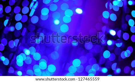 Blue Bokeh of Christmas Lights, Christmas and New Year Festival.