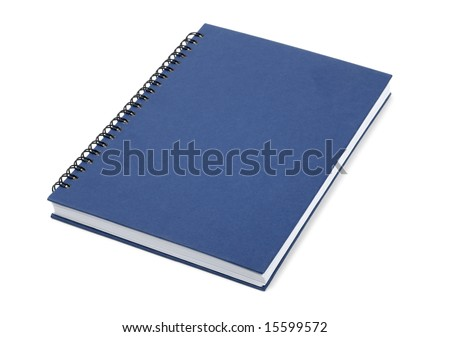 Blue book isolated over white background