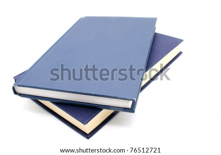 Blue books isolated on white