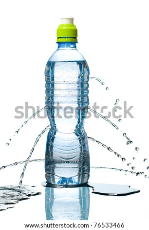pictures of water bottles. Proof water bottle is leaking,