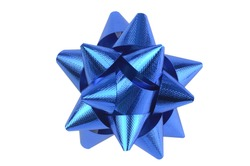 blue bow on a Isolated background