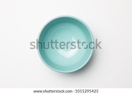 Blue bowl on white background #1015295425