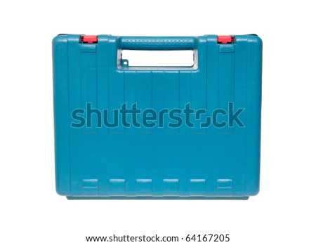 Blue box for tools isolated on the white