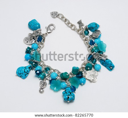 Blue bracelet with turquoise
