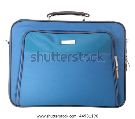 Blue Briefcase - stock photo