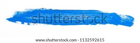 Blue brush stroke isolated over white background #1132592615