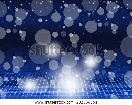 Blue Bubbles Background Meaning Floating Circles And Brightness