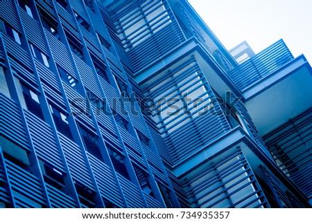 Blue Building Facade #734935357
