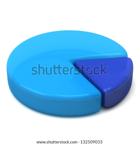 Blue Business Pie Chart Icon, 3d Stock Photo 132509033 ...