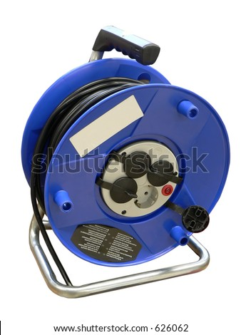 Blue cable reel  for mobile working