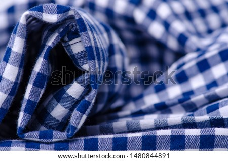 Blue cage shirt material fabric material texture blur background macro #1480844891