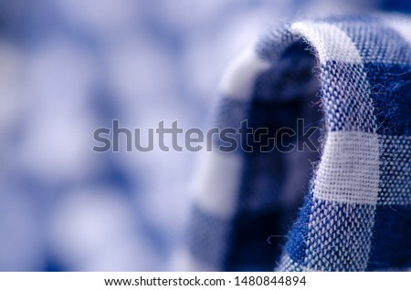 Blue cage shirt material fabric material texture blur background macro