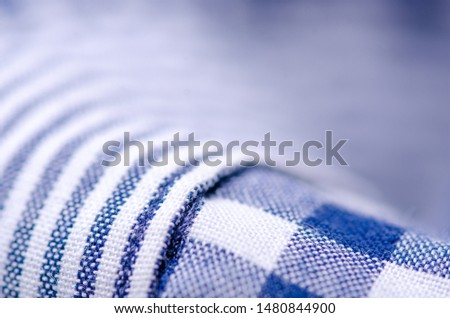 Blue cage shirt material fabric material texture blur background macro #1480844900