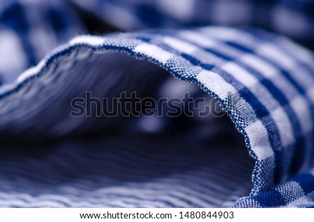 Blue cage shirt material fabric material texture blur background macro #1480844903
