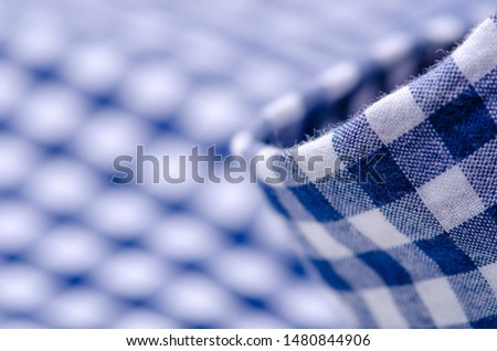 Blue cage shirt material fabric material texture blur background macro #1480844906