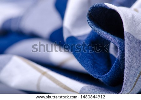 Blue cage shirt material fabric material texture blur background macro #1480844912