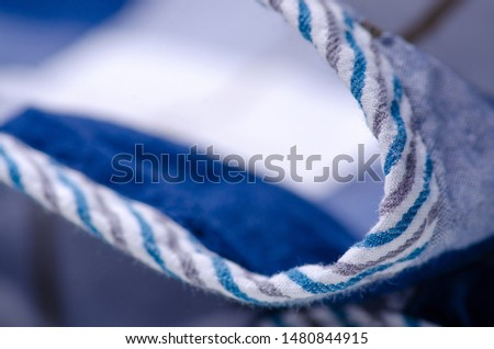 Blue cage shirt material fabric material texture blur background macro #1480844915