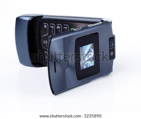 blue camera phone